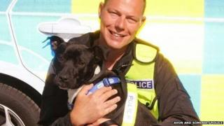 PC Lee Webb and Tyson