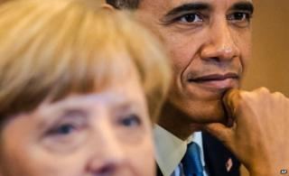 Merkel and Obama in Brussels in June
