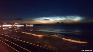 Noctilucent cloud over Scarborough