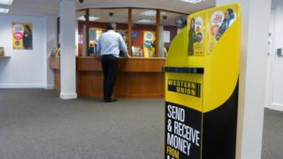 interior of payday lender shop
