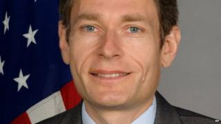 An undated photo posted on the US State Department shows Tom Malinowski, Assistant Secretary of State for Democracy, Human Rights and Labor