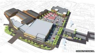Plans for Market Walk in Chorley