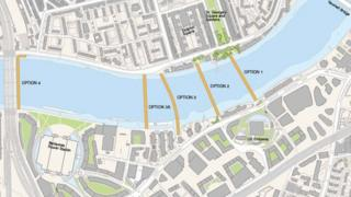 Transport for London's proposed Thames river crossing for Nine Elms
