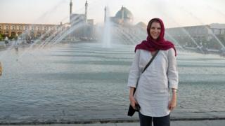 Jane Marriott at Imam Square in Isfahan, Iran