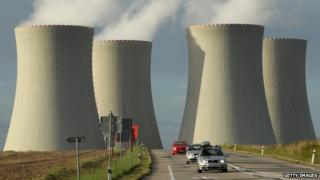 Cooling towers at the Russian-designed Temelin nuclear power station, Czech Republic, 2011