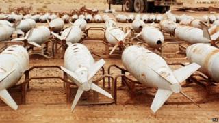 Rockets with chemical agents at Muthanna. File photo