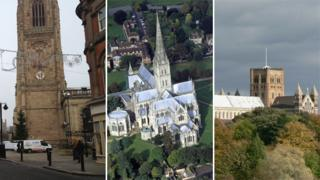 cathedrals - Derby, Salisbury and St Albans