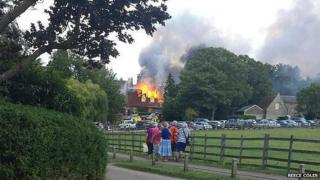 Castle Ashby fire