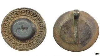 Medieval silver seal matrix