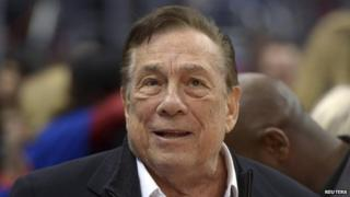 LA Clippers owner Donald Sterling at a basketball game in LA, California on 10 January 2014