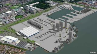 Artist's impression of Green Port Hull