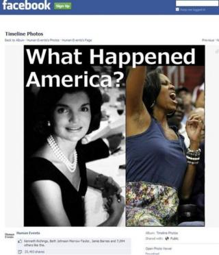 A widely shared image of Michelle Obama and Jacqueline Kennedy