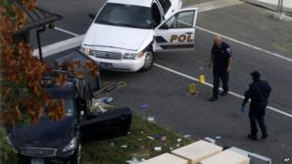 Capitol Hill police officers looked at a car driven by Miriam Carey on 3 October 2013
