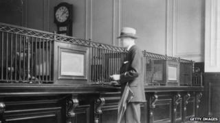 Barclays Bank in Fleet St in 1925