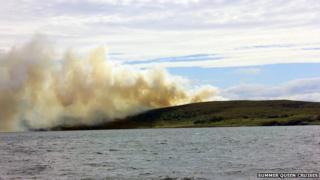 Wildfire on Scoraig peninsula