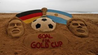 World Cup Final sand sculpture