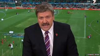 Football commentator Brian Taylor