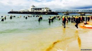 Bournemouth Pier to Pier swim 2014
