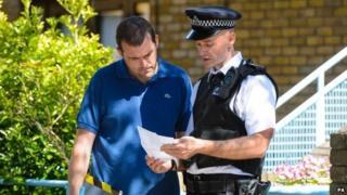Police outside a London property