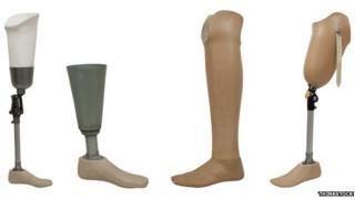 Four prosthetic legs