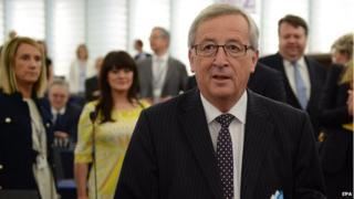 Jean-Claude Juncker at European Parliament, 15 July 2014