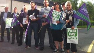 Anglesey council workers strike