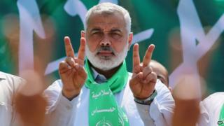 Gaza's Hamas Prime Minister Ismail Haniyeh
