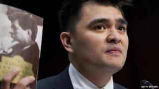 Jose Antonio Vargas appeared in Los Angeles, California, on 18 June 2014
