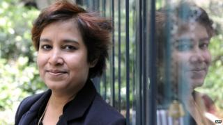 Taslima Nasreen in Paris, 2008