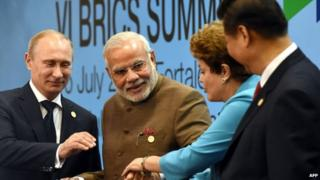 Brics leaders announced the creation of a new bank on Tuesday