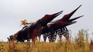 Torpedosaur sculpture