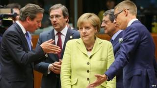 EU leaders at start of summit, 16 Jul 14
