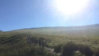 Group leaving Storey Arms