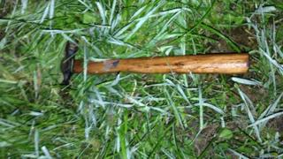 A hammer reportedly used during the attack