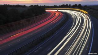 M4 motorway lights