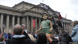 The little girl in Liverpool in 2012