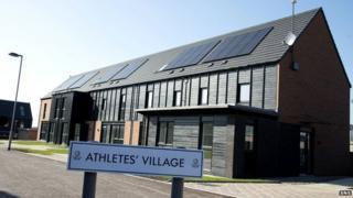Athletes' village sign