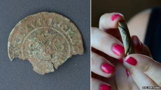 Nuremburg jetton and curse tablet found at Leiston Abbey