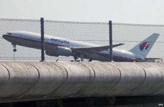 Flight MH17 leaving Schiphol Airport, Amsterdam, 17 July