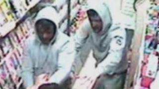 cctv of armed robbers in edinburgh