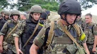 Ukrainian troops deploying in east to fight rebels, 15 July 14