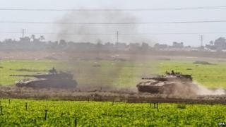 Israel decided to send in tanks and troops after days of deliberating