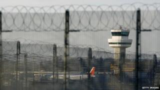 Air traffic control tower at Gatwick Airport