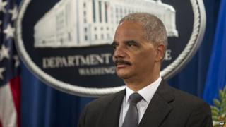 Attorney General Eric Holder appeared in Washington on 14 July 2014