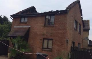House struck by lightning in Chelmsford