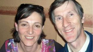Handout image shows Andrew Hoare and his dutch wife Estella,