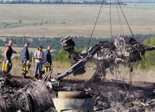 Debris at crash site, 20 Jul 14
