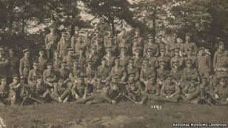 Soldiers from the 19th Battalion of the Liverpool Pals