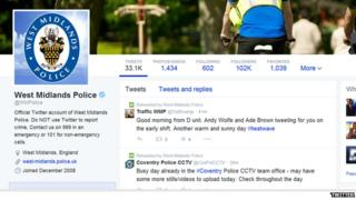Police twitter feed