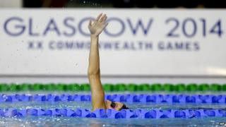 Swimmer in pool ahead of games